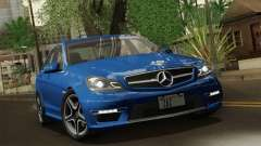 Mercedes-Benz C63 AMG Sedan 2012 для GTA San Andreas