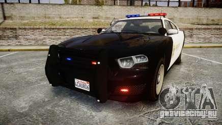 GTA V Bravado Buffalo LS Sheriff Black [ELS] для GTA 4