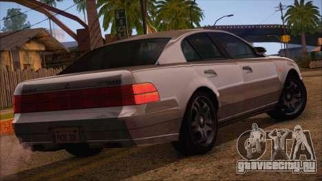 GTA 5 Intruder для GTA San Andreas вид слева