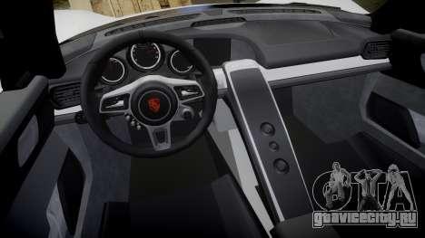 Porsche 918 Spyder 2014 для GTA 4 вид изнутри