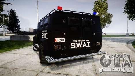 SWAT Van для GTA 4 вид сзади слева