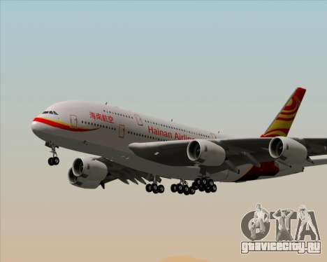 Airbus A380-800 Hainan Airlines для GTA San Andreas колёса