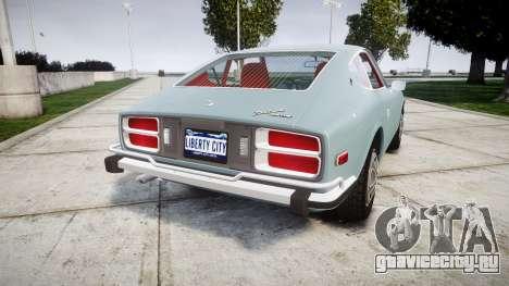 Datsun 260Z 1974 для GTA 4 вид сзади слева