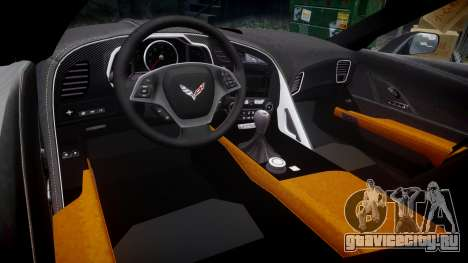 Chevrolet Corvette C7 Stingray 2014 v2.0 TirePi1 для GTA 4 вид изнутри