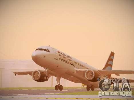Airbus A320-214 Afriqiyah Airways для GTA San Andreas вид слева