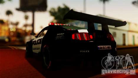 Ford Mustang GT-R Police для GTA San Andreas вид слева