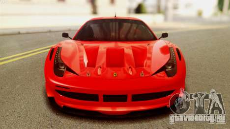 Ferrari 62 F458 2011 для GTA San Andreas вид сзади