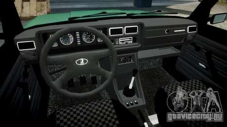 ВАЗ-2107 lower для GTA 4 вид сзади