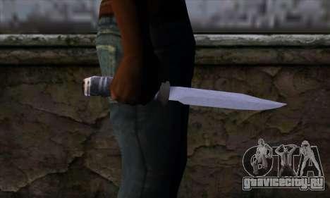 Длинный нож для GTA San Andreas третий скриншот