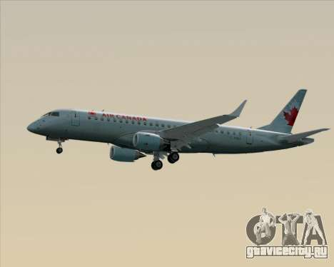 Embraer E-190 Air Canada для GTA San Andreas вид сверху