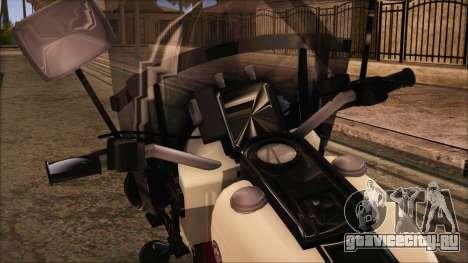 GTA 5 Police Bike для GTA San Andreas вид сзади слева