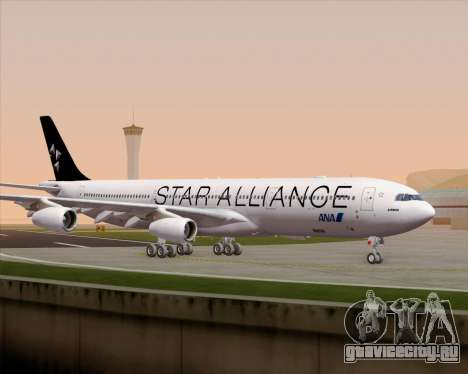 Airbus A340-300 All Nippon Airways (ANA) для GTA San Andreas вид сверху