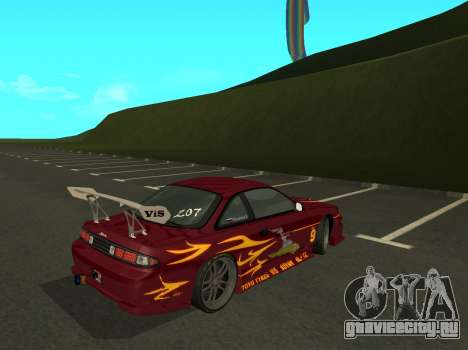 Nissan 200SX FnF1 (Letty car) для GTA San Andreas вид сзади слева