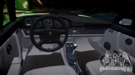 Porsche 911 (964) Cabrio для GTA 4 вид изнутри