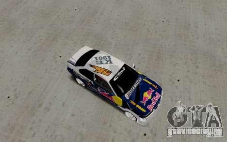 BMW E36 Red Bull для GTA San Andreas вид сзади слева
