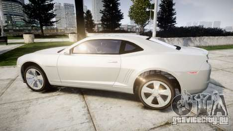 Chevrolet Camaro SS [ELS] Unmarked no side ligh для GTA 4 вид слева