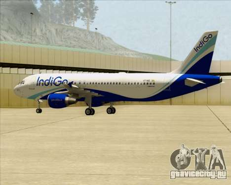 Airbus A320-200 IndiGo для GTA San Andreas вид изнутри