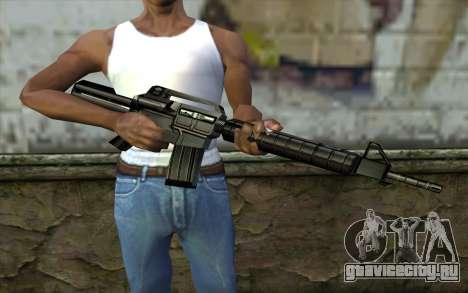 Retextured M4 для GTA San Andreas третий скриншот