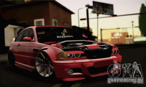 BMW M3 Coupe Tuned Version Burnout для GTA San Andreas