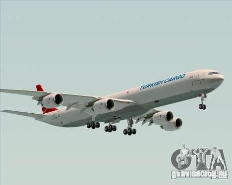 Airbus A340-600 Turkish Cargo для GTA San Andreas вид сзади слева
