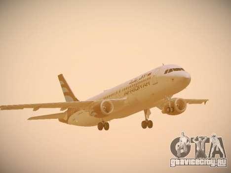 Airbus A320-214 Afriqiyah Airways для GTA San Andreas