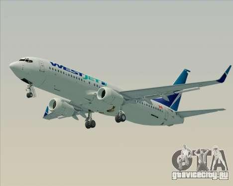 Boeing 737-800 WestJet Airlines для GTA San Andreas вид сзади слева