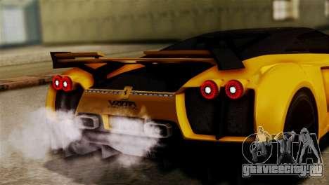 Ferrari Velocita 2013 SA Plate для GTA San Andreas вид сзади