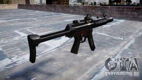 Пистолет-пулемёт MP5SD DRS FS b target для GTA 4 второй скриншот
