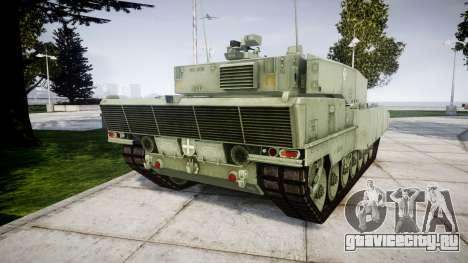 Leopard 2A7 EU Green для GTA 4 вид сзади слева