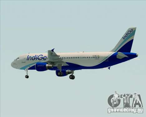 Airbus A320-200 IndiGo для GTA San Andreas вид сзади