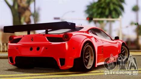 Ferrari 62 F458 2011 для GTA San Andreas вид слева