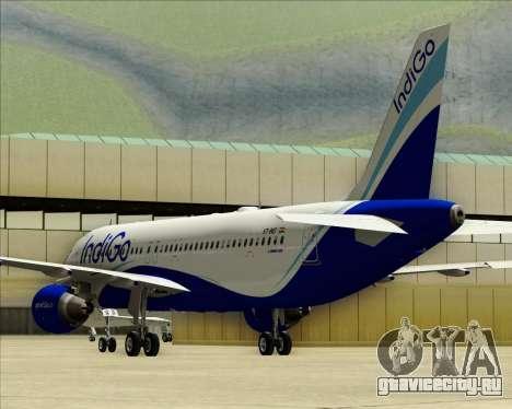 Airbus A320-200 IndiGo для GTA San Andreas вид сверху