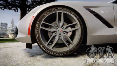 Chevrolet Corvette C7 Stingray 2014 v2.0 TireMi2 для GTA 4 вид сзади