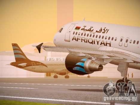 Airbus A320-214 Afriqiyah Airways для GTA San Andreas салон