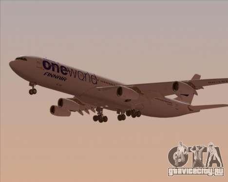 Airbus A340-300 Finnair (Oneworld Livery) для GTA San Andreas вид изнутри