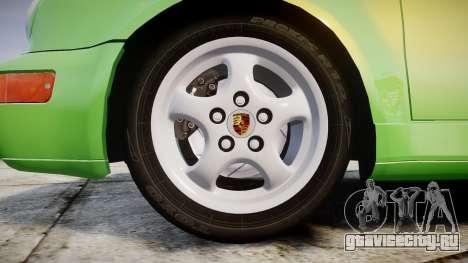 Porsche 911 (964) Cabrio для GTA 4 вид сзади