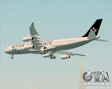 Airbus A340-300 All Nippon Airways (ANA) для GTA San Andreas вид снизу