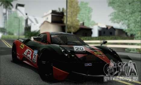 Pagani Huayra TT Ultimate Edition для GTA San Andreas вид сзади