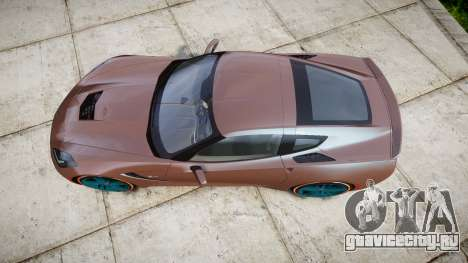 Chevrolet Corvette C7 Stingray 2014 v2.0 TireBr1 для GTA 4 вид справа