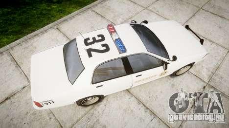 GTA V Vapid Police Cruiser Rotor [ELS] для GTA 4 вид справа