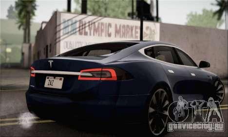 Tesla Model S 2014 для GTA San Andreas вид слева