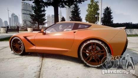 Chevrolet Corvette C7 Stingray 2014 v2.0 TireMi4 для GTA 4 вид слева