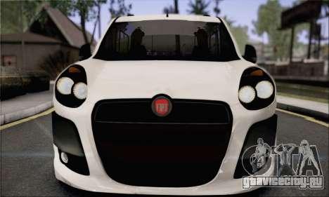 Fiat Doblo 2010 Edit для GTA San Andreas вид сзади слева