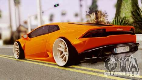 Lamborghini Huracan LB для GTA San Andreas вид слева