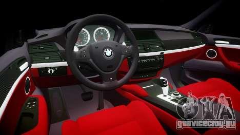 BMW X6M rims1 для GTA 4 вид изнутри