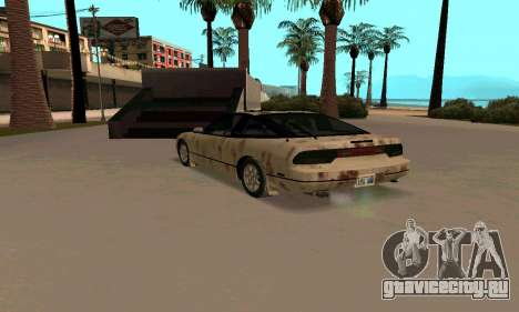 Nissan 240SX Rusted для GTA San Andreas вид сзади слева