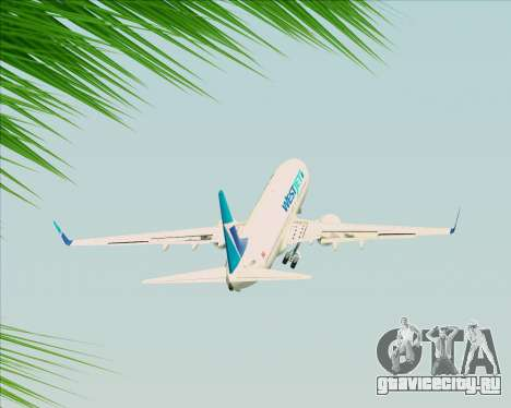 Boeing 737-800 WestJet Airlines для GTA San Andreas