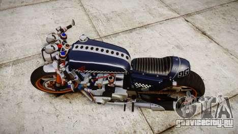 Honda CB750 cafe racer для GTA 4 вид справа