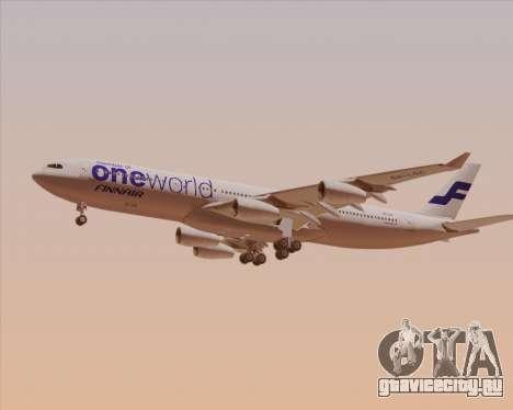 Airbus A340-300 Finnair (Oneworld Livery) для GTA San Andreas вид сзади слева