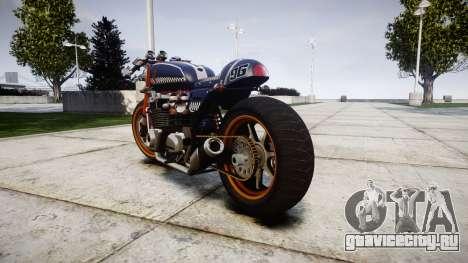 Honda CB750 cafe racer для GTA 4 вид сзади слева